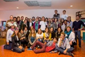 Les volontaires et l'équipe de l'asbl Odyssea